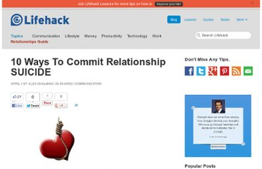http://www.lifehack.org/articles/communication/10-ways-to-commit-relationship-suicide.html