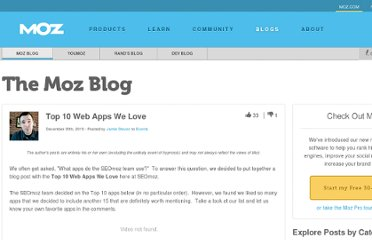 http://www.seomoz.org/blog/top-10-web-apps-we-love
