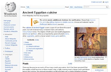 http://en.wikipedia.org/wiki/Ancient_Egyptian_cuisine