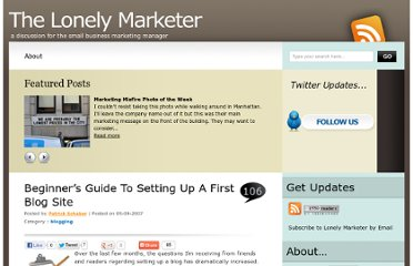 http://www.lonelymarketer.com/2007/09/05/beginners-guide-to-setting-up-a-first-blog-site/