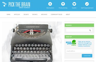 http://www.pickthebrain.com/blog/how-to-write-faster-better-and-easier/