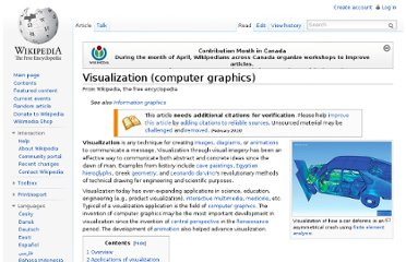 http://en.wikipedia.org/wiki/Visualization_(computer_graphics)