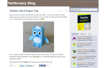 http://twittonary.com/blog/twitter-bird-paper-toy/