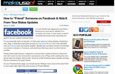 http://www.makeuseof.com/tag/facebook-tip-how-to-safely-friend-a-colleague-or-relative-without-showing-them-all-your-business/
