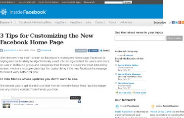http://www.insidefacebook.com/2009/03/20/3-tips-for-customizing-the-new-facebook-home-page/