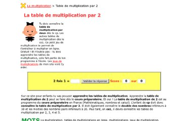 Maths lisa ce2 pearltrees for Table de multiplication par 3