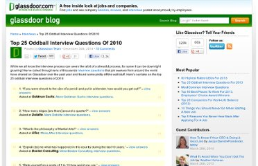 http://www.glassdoor.com/blog/top-25-oddball-interview-questions-2010/
