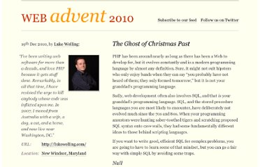 http://phpadvent.org/2010/the-ghost-of-christmas-past-by-luke-welling