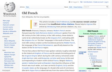http://en.wikipedia.org/wiki/Old_French