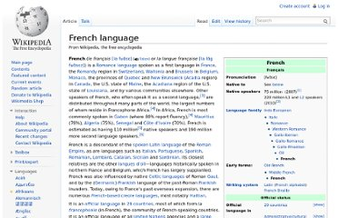 http://en.wikipedia.org/wiki/French_language