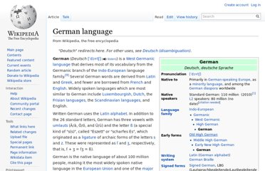 http://en.wikipedia.org/wiki/German_language