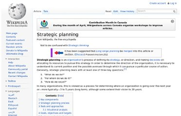 http://en.wikipedia.org/wiki/Strategic_planning