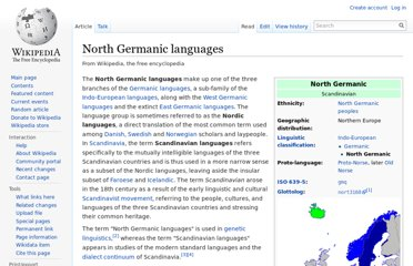http://en.wikipedia.org/wiki/North_Germanic_languages