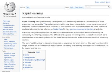 http://en.wikipedia.org/wiki/Rapid_learning