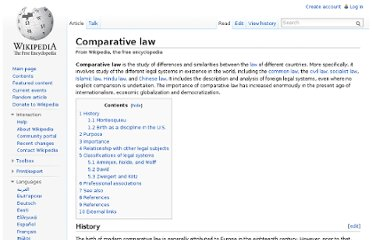 http://en.wikipedia.org/wiki/Comparative_law