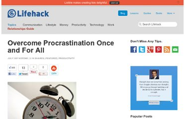 http://www.lifehack.org/articles/productivity/overcome-procrastination-once-and-for-all.html