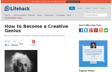 http://www.lifehack.org/articles/lifehack/how-to-become-a-creative-genius.html