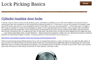 http://homepage.ntlworld.com/moonshadow/New_Folder/lock_picking_basics.htm