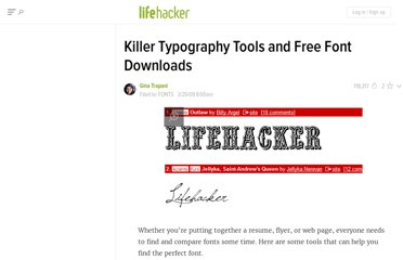 http://lifehacker.com/5182958/killer-typography-tools-and-free-font-downloads