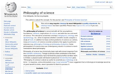 http://en.wikipedia.org/wiki/Philosophy_of_science