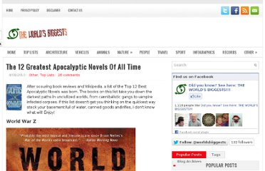 http://www.worldsbiggests.com/2010/04/12-greatest-apocalyptic-novels-of-all.html