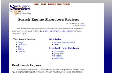 http://www.searchengineshowdown.com/reviews/