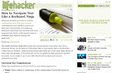 http://lifehacker.com/5321432/how-to-highlight-text-like-a-keyboard-ninja