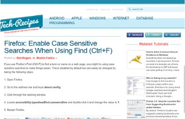 http://www.tech-recipes.com/rx/4933/firefox-enable-case-sensitive-searches-when-using-find-ctrlf/