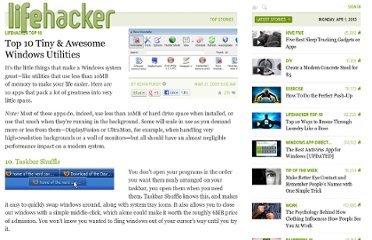 http://lifehacker.com/5178222/top-10-tiny--awesome-windows-utilities