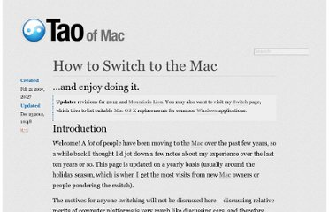 http://the.taoofmac.com/space/HOWTO/Switch%20To%20The%20Mac