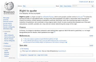 http://en.wikipedia.org/wiki/Right_to_quote