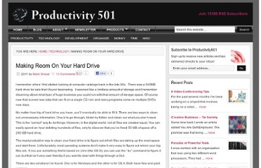 http://www.productivity501.com/making-room-on-your-hard-drive/250/
