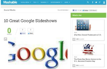 http://mashable.com/2008/12/08/10-great-google-slideshows/