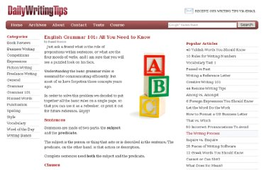 http://www.dailywritingtips.com/english-grammar-101-all-you-need-to-know/