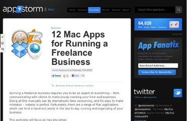 http://mac.appstorm.net/roundups/business/12-mac-apps-for-running-a-freelance-business/