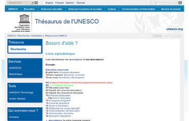 http://databases.unesco.org/thesfr/help.html