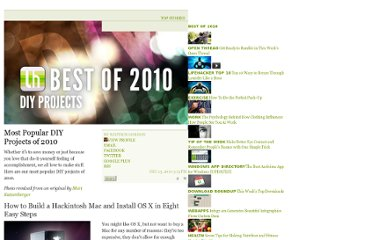 http://lifehacker.com/5713197/most-popular-diy-projects-of-2010