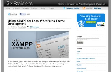 http://sixrevisions.com/tutorials/web-development-tutorials/using-xampp-for-local-wordpress-theme-development/#more-734