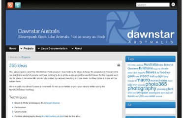 http://www.dawnstar.id.au/projects/365-ideas/