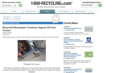 http://1800recycling.com/2010/07/recycled-newspaper-creatures-recycled-tucson/