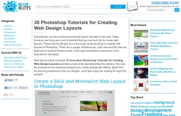 http://blueblots.com/tutorials/35-photoshop-tutorials-for-creating-web-design-layouts/