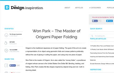 http://thedesigninspiration.com/articles/won-park-the-master-of-origami-paper-folding/