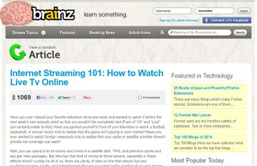 Internet Streaming 101: How To Watch Live TV Online