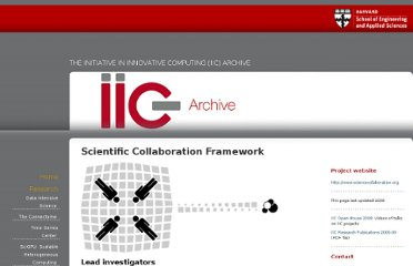 http://iic.seas.harvard.edu/research/scientific-collaboration-framework