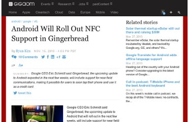 http://gigaom.com/2010/11/15/android-will-roll-out-nfc-support-in-gingerbread/