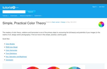 http://www.tutorial9.net/articles/design/simple-practical-color-theory/