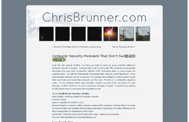 http://www.chrisbrunner.com/2006/10/15/securitytechnologyhackingphreaking-podcasts-that-dont-suck/