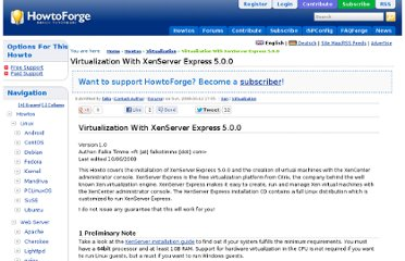 http://www.howtoforge.com/virtualization-with-xenserver-express-5.0.0