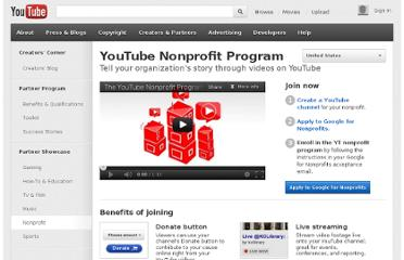 http://www.youtube.com/nonprofits