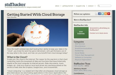 http://www.staffhacker.com/135/getting-started-with-cloud-storage